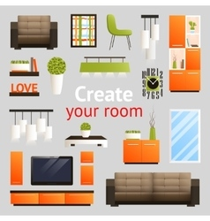Furniture Objects Set vector image