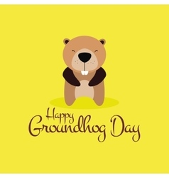 Groudhog day background vector image