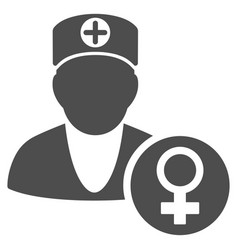 gynecology doctor flat icon vector image