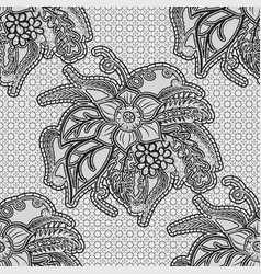 lace seamless texture with large flowers vector image vector image