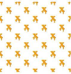 Letter x from honey pattern vector