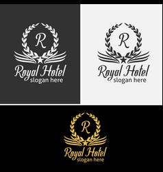 Luxurious royal logo vector