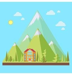 Mountain resort vector