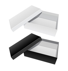 Package Box Opened with the cover removed vector image vector image