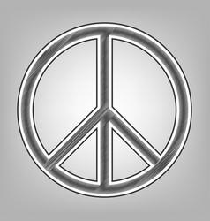 peace sign pencil sketch vector image