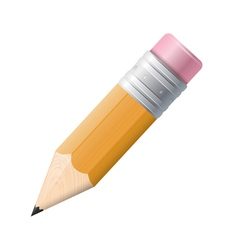 Pencil drawing on a white background Isolated vector image vector image