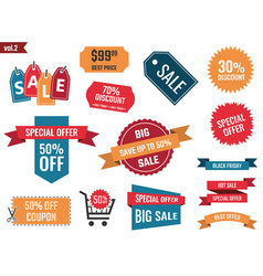 sale banners set discount coupons and labels vector image