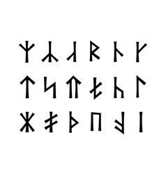 Slavonic Runes of Venethi vector image vector image