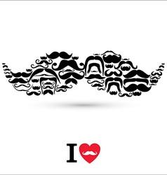 Stock moustaches set design elements vector