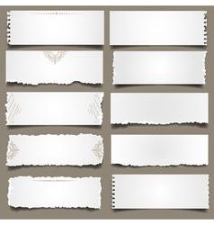 Ten notes paper vector image vector image