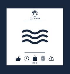 wave icon vector image