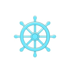 Wheel of dharma icon cartoon style vector