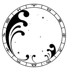 zodiac sign Aquarius vector image vector image