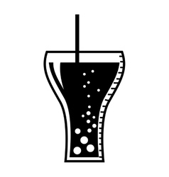 Soda glass drink beverage silhouette icon vector