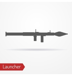 Launcher silhouette icon vector