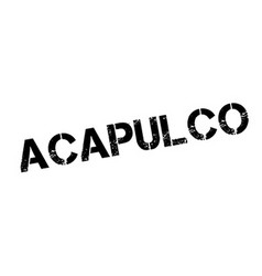 Acapulco rubber stamp vector