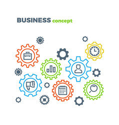 Business integration mechanism marketing vector
