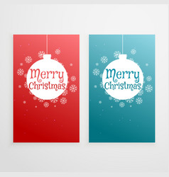 Set of two vertical christmas banners holiday vector