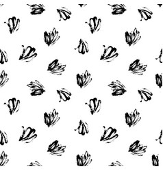 Hand drawn abstract brush strokes pattern vector