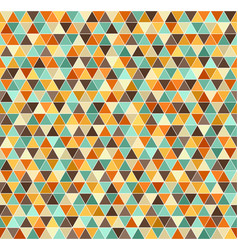 triangle pattern retro seamless background vector image