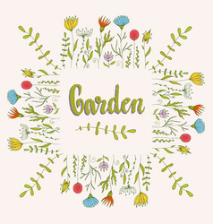 Flowers decorative background floral frame with vector