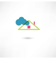Roof and cloud vector