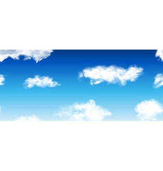 Blue seamless sky with clouds vector