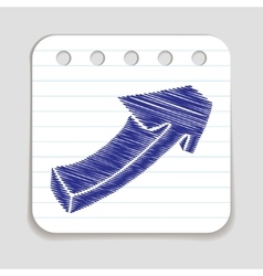 Doodle arrow icon vector