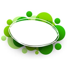 Oval background with green bubbles vector