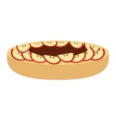 Delicious pie with apple isolated icon design vector