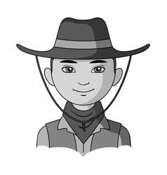 Amnricanianhuman race single icon in monochrome vector