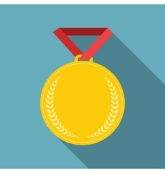 Art Flat Medal Icon Template for Web Medal icon vector image vector image