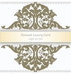 Baroque luxury invitation card vector