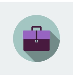 Briefcase icon flat design vector