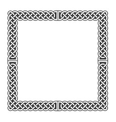 celtic knots medieval frame in black and vector image vector image