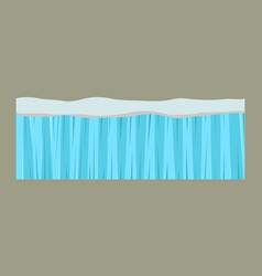 cross section blue water slice isolated some piece vector image vector image