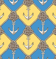 Engraved knot and anchor vector image