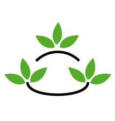 Environmental logo vector image vector image
