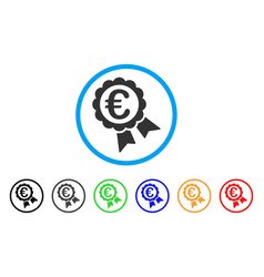 euro guarantee seal rounded icon vector image