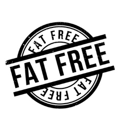 Fat Free rubber stamp vector image