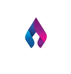 Flame logo design concept beauty spear vector