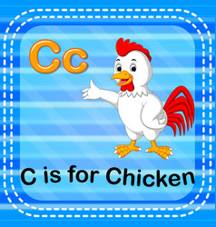 Flashcard letter c is for chicken vector
