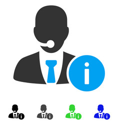 Help desk manager flat icon vector