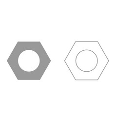 hex nut it is icon vector image