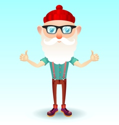 Hipster grandpa vector