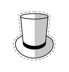 Magician hat mystery icon vector