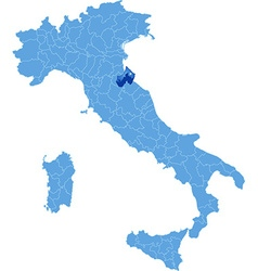 Map of Italy Rimini vector image vector image