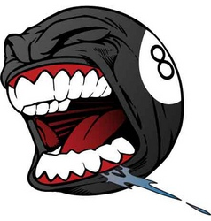 screaming 8 ball vector image
