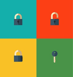 Set of lock icons vector