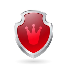 Shield with crown vector